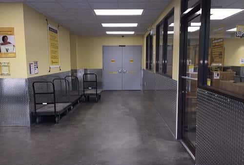 Access Area and Carts For Use on Site to Transport Items to Self Storage Lockers on Riviera Blvd. in Miramar, FL 33023