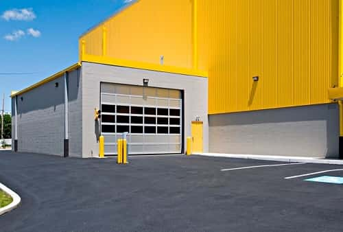 Drive In And Covered Loading Area For Self Storage Lockers On Frankford Ave Philly