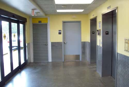 Easy Cargo Elevator Access to Pompano Beach Storage Bins on Upper Floors in Zip Code 33064