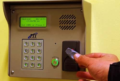 Self Storage Unit Security Access Keypad in Palatine, Illinois on E Northwest Highway