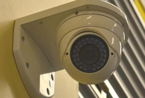 Security Camera in Self Storage Area on Erato Street in New Orleans, Louisiana 70130
