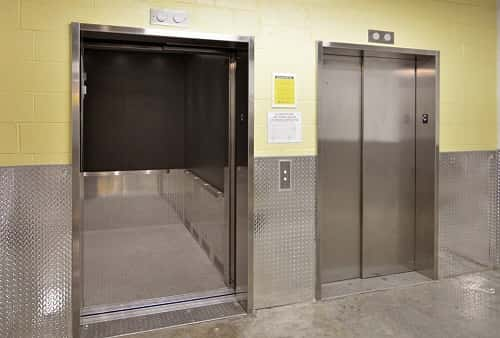 Easy Cargo Elevator Access to Brooklyn Storage Bins on Upper Floors in Zip Code 11210