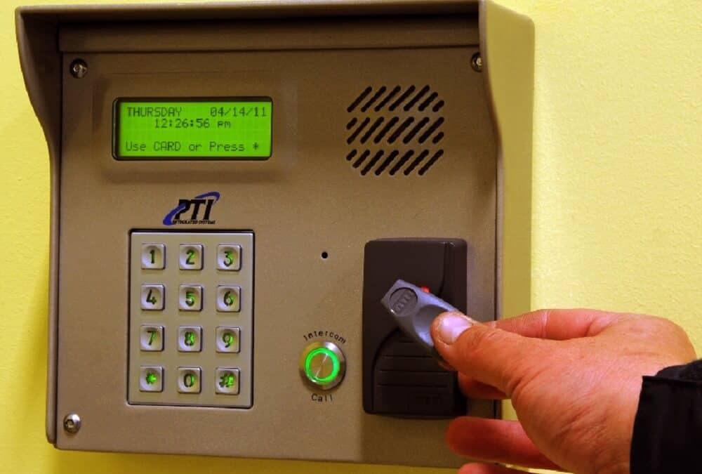 Self Storage Unit Security Access Keypad in East Rockaway, NY on Ocean Ave