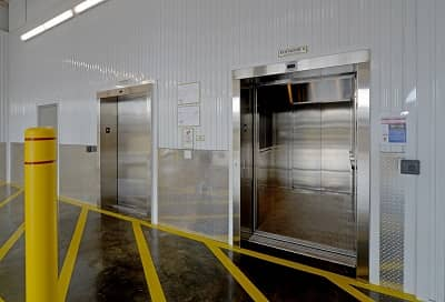 Easy Cargo Elevator Access to Plainview Storage Bins on Upper Floors