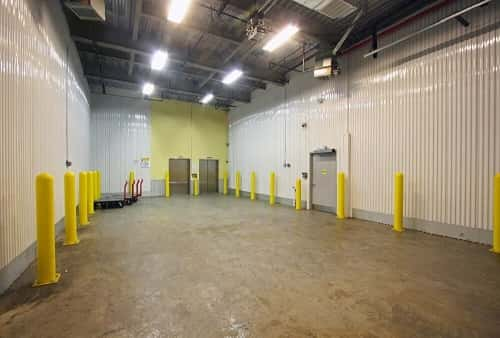 Drive In Loading Area For Self Storage Bins at 204-02 Jamaica Ave in Hollis, NY 11423