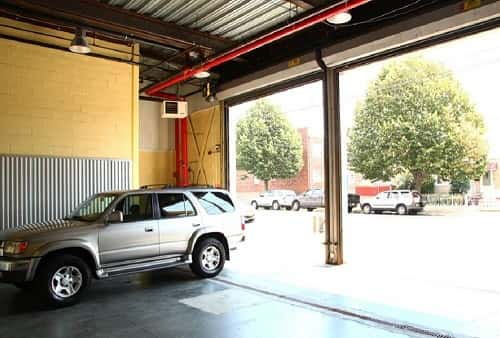 Extra Large Drive In Loading Area For Self Storage Lockers on 103rd Ave, Ozone Park, NY