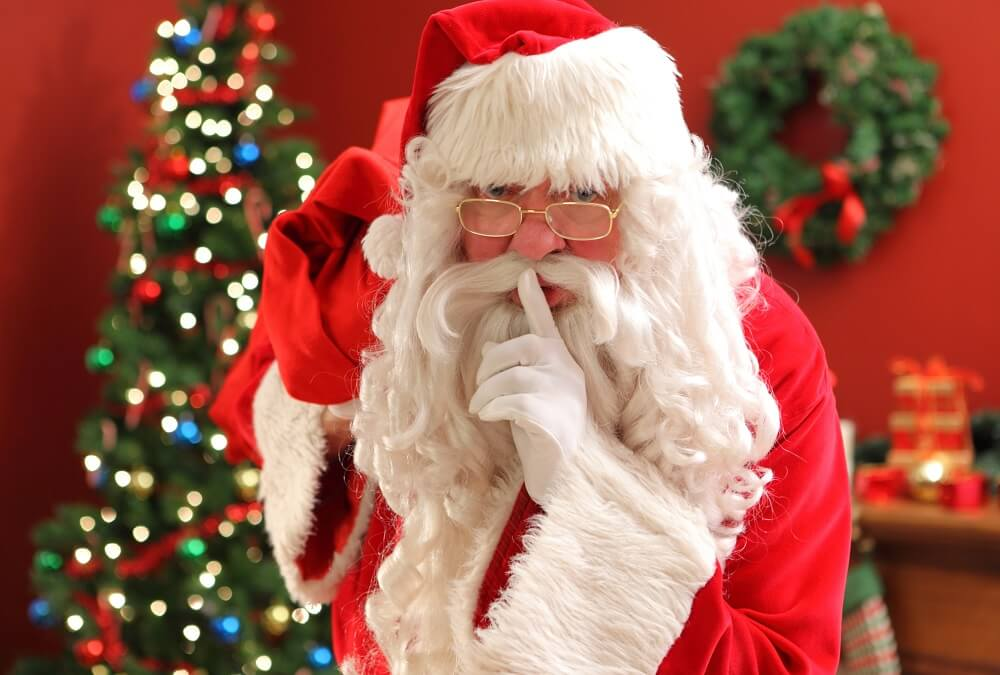 Santa Claus Stores At Safeguard Self Storage To Keep Spying Eyes From Finding Their Presents and Gifts